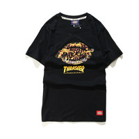 Couple Summer Skateboard Short Sleeve T-shirts [10233714183]