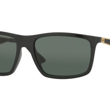 Ray Ban Active RB4228 622771 58 Black Gold Frame / Green Classic Lenses
