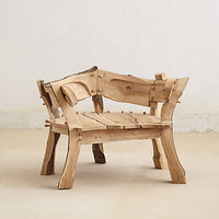 Rounded Woodlands Bench