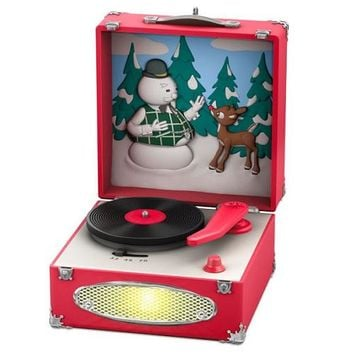 Rudolph the Red-Nosed Reindeer® Record Player Musical Ornament With Light