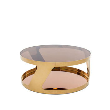 Modrest Chandon Modern Round Gold Coffee Table