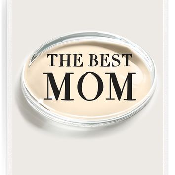 The Best Mom Crystal Oval Paperweight