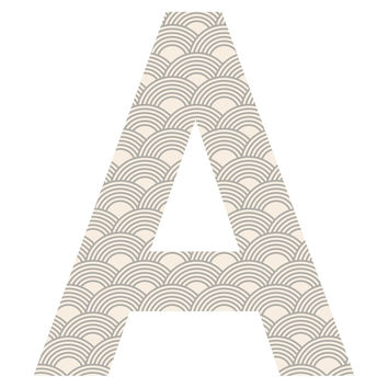 Neutral Scales Patterned Letter Wall Decal