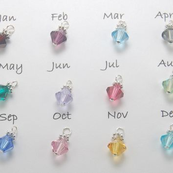 Add on Swarovski Crystal Birthstone Bead