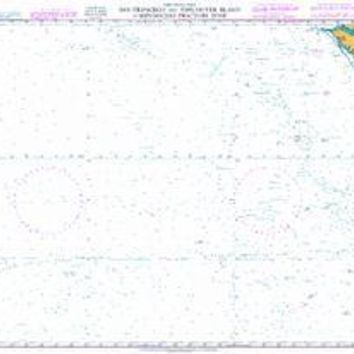 British Admiralty Nautical Chart 4806: North Pacific Ocean, San Francisco and Vancouver Island to Mendocino Fracture Zone