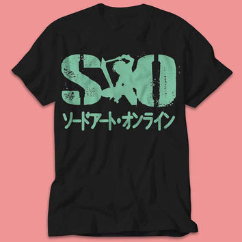 SAO - Sword Art Online Kirito Double Sword Japan Anime Manga - TShirt - Multi Size Color
