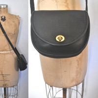 Coach WATSON Bag / black leather / Messenger Satchel purse