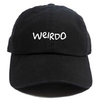 Weirdo Dad Hat in Black