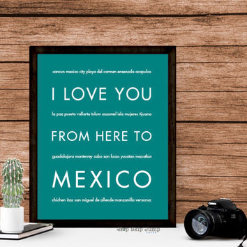 MEXICO Travel Art Print | Gift Idea | HopSkipJumpPaper