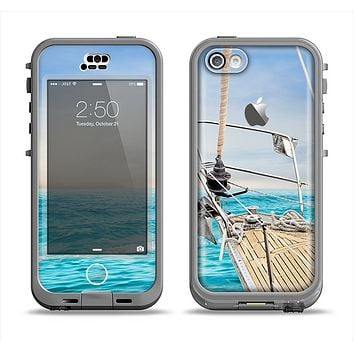The Vibrant Ocean View From Ship Apple iPhone 5c LifeProof Nuud Case Skin Set