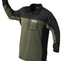 Drake Waterfowl EST Base Layer Top Green/Black