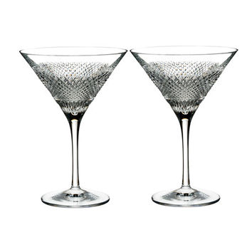 Waterford Crystal Diamond Line Martini Glasses, Set of Two | Neiman Marcus