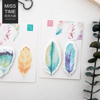 30Sheet/Pcs Kawaii Colorful Feather Diary Notebook Memo Pad Notes Post It Kawaii Planner Scrapbooking Stationery School Supplies