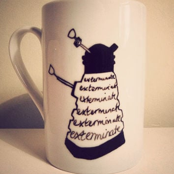 Dalek mug by Mr Teacup by MrTeacup on Etsy