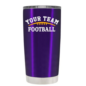 TREK Custom Football Team on Translucent Purple 20 oz Tumbler Cup