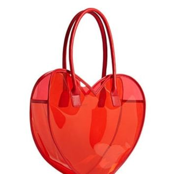 Vinyl Heart Tote Bag