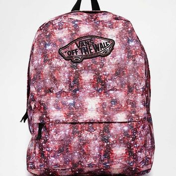 Vans Realm Backpack in Space Print