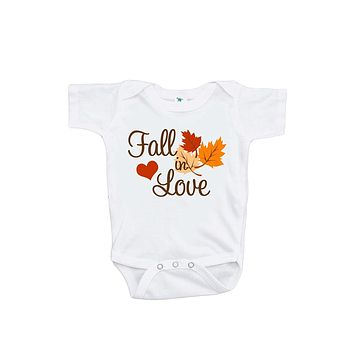 Fall in Love - Baby Boy's Onepiece