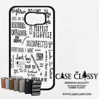5sos songs Samsung Galaxy S6 Edge Case CaseClassy