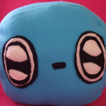 Neon Blue Buugey - The Alien Blob Child's Pillow