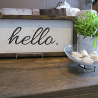 "Wood Sign ""hello"""