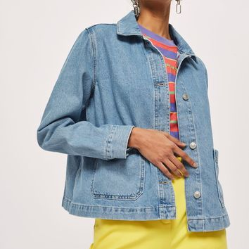 Denim Shacket - Jackets & Coats - Clothing