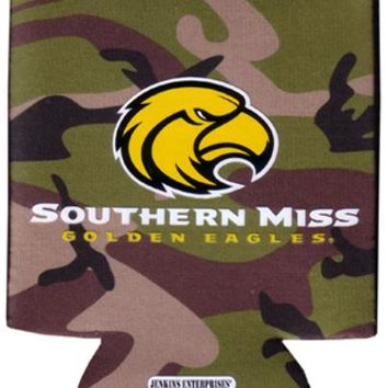 university of southern mississippi - koozie pocket camo 12 dp Case of 144