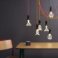 Pick Your Color - Bare Bulb Hanging Pendant Light Without Plumen Bulb