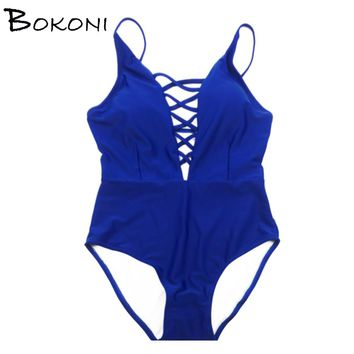 One Piece Swimsuit Sexy Swimwear Women Bathing Suit Swim Vintage Summer Beach Wear