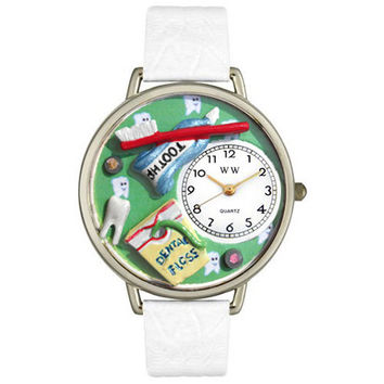 Dental Assistant Watch in Silver (Large)