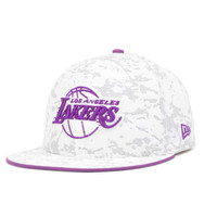 Los Angeles Lakers NBA Hardwood Classics Snow'd Camo 59FIFTY Cap