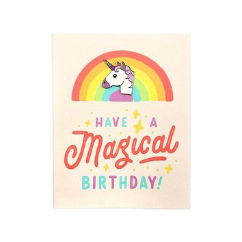 Magical Birthday Card + Pin Combo