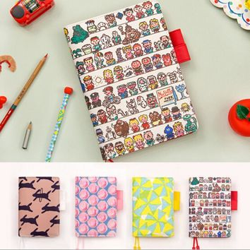 2017 Japanese Style Office Personal Time Organizer Notebook Day Weekly Monthly Plan Kawaii Agenda Planner Travel Journal A5 A6