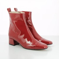 Estime Patent Leather Red Boots by Carel : Spring Summer 17 Carel Paris