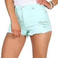 Sale-mint Distressed Summer