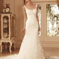 Casablanca Bridal 2099 Vintage Lace Wedding Dress