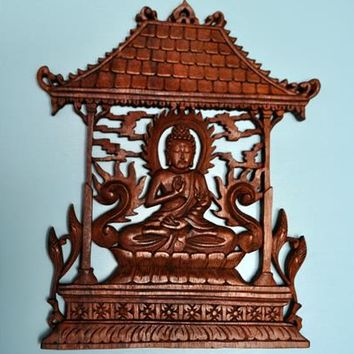 Pagoda buddha wall decoration