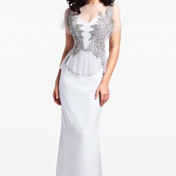 Daymor Couture - Ethereal Embellished Side Evening Gown 150