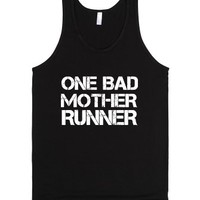 One Bad Mother Runner-Unisex Black Tank