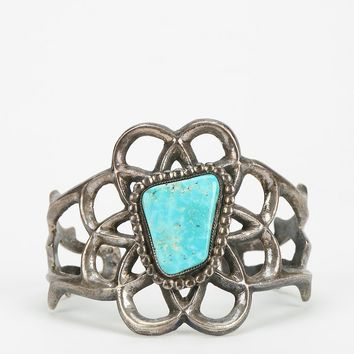 Vintage Turquoise Wide Cuff Bracelet - Urban Outfitters