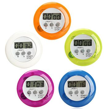 5Color Digital Alarm Clock Round Magnetic