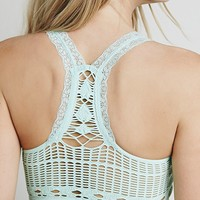 Free People Seamless Racerback Crochet Bra