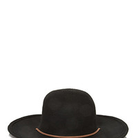 Wool Chinstrap Wide-Brim Hat