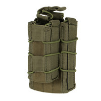Double Decker Magazine Pouch Airsoft Mag Pouch Military Bag MOLLE Camouflage Hunting Bag EM6346 Tactical Double Magazine Mag