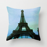 Vintage Eiffel II Throw Pillow by Ann B.