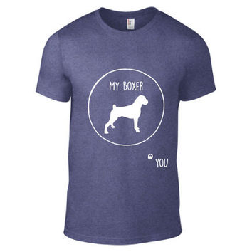 Animal Lover Clothing - Boxer Circle of Trust Heathered Crew Neck - Mens