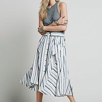 Free People Womens Boardwalk Babe Midi Skirt
