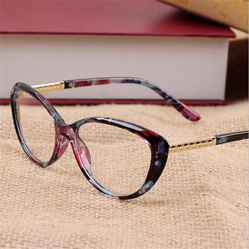 2017 New Women's Fashion Cat Eye Optical Glasses Frame Vintage Women Reading Eyewear Eyeglasses Retro Myopia Eye Glasses Frame