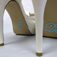 I Do Wedding Rhinestone Crystal Brides Shoe Sticker Diamante Love Something Blue = 1929317188