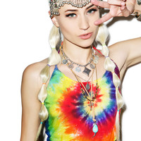 Cali Kind Ms. Molly Halter Top Tie Dye One